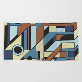 De Stijl Abstract Geometric Artwork 3 Beach Towel