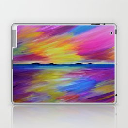 PURPLE SEASCAPE - Abstract Sky Seascape Oil Painting Laptop & iPad Skin