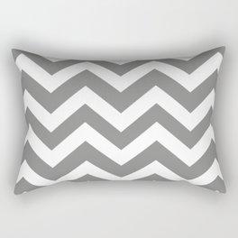 Battleship grey - grey color - Zigzag Chevron Pattern Rectangular Pillow