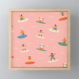 Surf kids Framed Mini Art Print