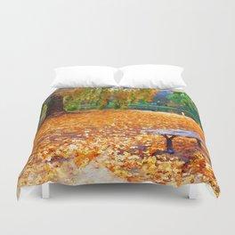 Massachusetts - Autumn Colors Duvet Cover