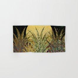 """Golden aloe Zebra midnight sun"" Hand & Bath Towel"