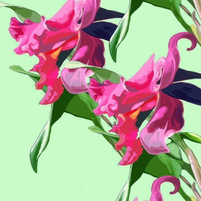 Cattleya Orchid Leggings