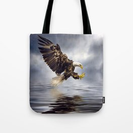 Bald Eagle swooping Tote Bag