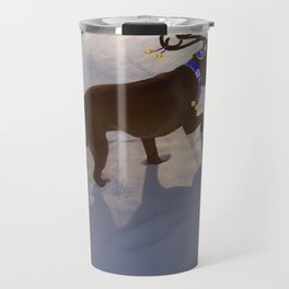 """DREIDEL, DREIDEL, DREIDEL ...Hanukkah PLaY-Do'LPH"" from the photo series, ""My dog, PLaY-DoH"" Travel Mug"