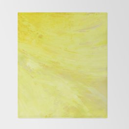 Abstract Yellow Sun by Robert S. Lee Throw Blanket