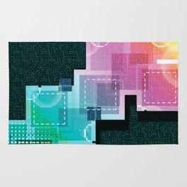 Abstract Tech Rug