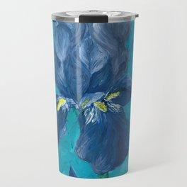 Purple Iris Artwork Travel Mug
