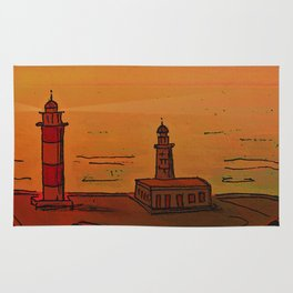 Good Morning / New and Old Lighthouse Fuencaliente La Palma Rug