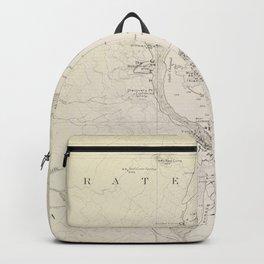 Crater Lake Vintage Map Backpack