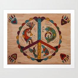 Southwest Peace Love and Harmony Art Print