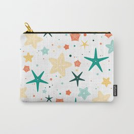 Seastars Pattern - Teal Carry-All Pouch