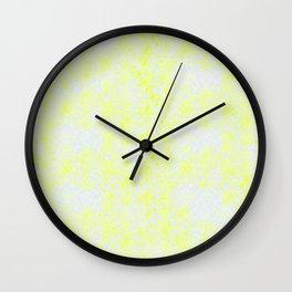 Damask Yellow Wall Clock
