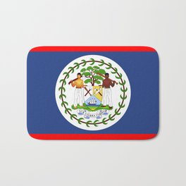 Belize county flag Bath Mat