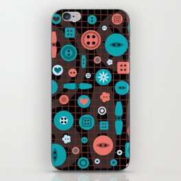 button it iPhone Skin