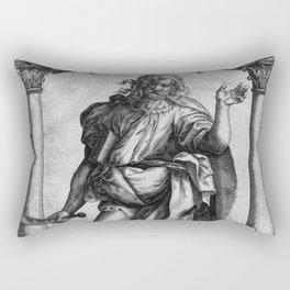 Saint Bartholomew Antique Engraving Rectangular Pillow
