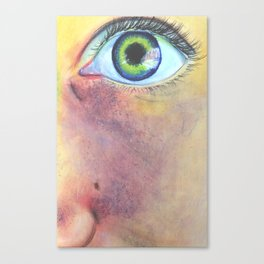 High Definition of Face Canvas Print