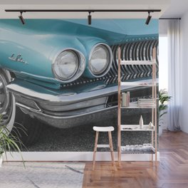 Vintage Car Photography | Turquoise Bedroom Art Wall Mural