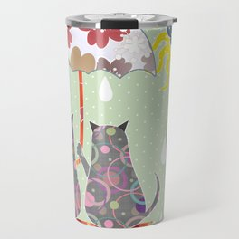 "A series of "" Favorite pillow "".Cats love. Travel Mug"