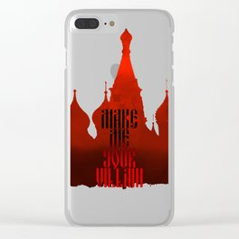 Make Me Your Vilain | Grisha Clear iPhone Case
