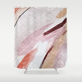 Away [2]: an abstract mixed media piece in pinks and reds Shower Curtain