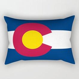 Colorado flag - High Quality image Rectangular Pillow