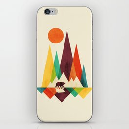 Bear In Whimsical Wild iPhone Skin