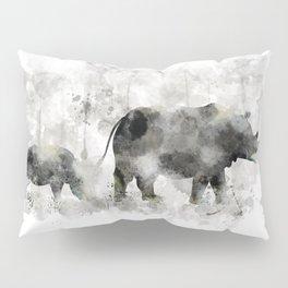 Rhino and Calf Pillow Sham