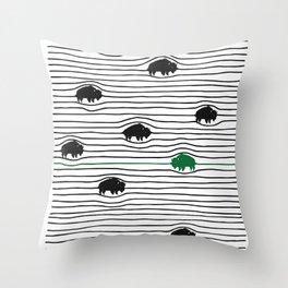 WAVY BFLO Throw Pillow