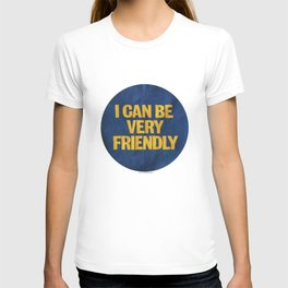 I can be Very Friendly Vintage print  T-shirt