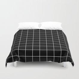 Grid Simple Line Black Minimalistic Duvet Cover