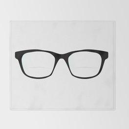Pair Of Optical Glasses Throw Blanket
