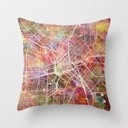 Dallas map 2 Throw Pillow