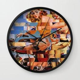 Glitch Pin-Up Redux: Zelda & Zoe Wall Clock
