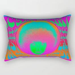 Psychedelic Music Festival Poster I Rectangular Pillow
