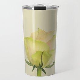 A single pink rose bud Travel Mug