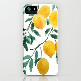 yellow lemon 2018 iPhone Case