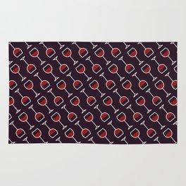 Wine Pattern - Icon Prints: Drinks Series Rug