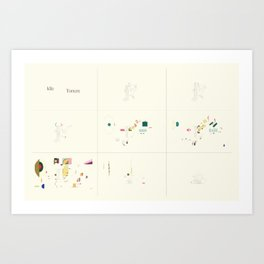 Idle, Torrent Sequence Art Print