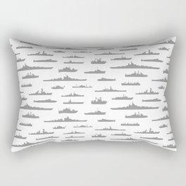 Battleship // Grey Rectangular Pillow