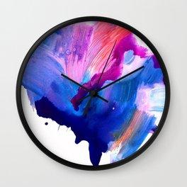 Danbury Abstract Watercolor Painting Wall Clock