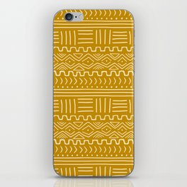 Mud Cloth on Mustard iPhone Skin