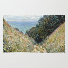 1882-Claude Monet-Road at La Cavée, Pourville-60 x 81 Rug