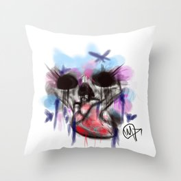 pop skull Throw Pillow