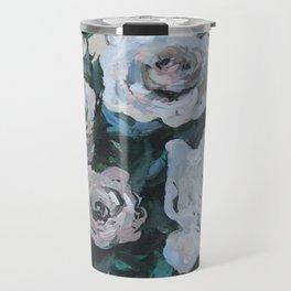 """Virginia"" Floral Arrangement in Vase Painting Travel Mug"