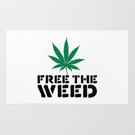 Free The Weed Quote Rug