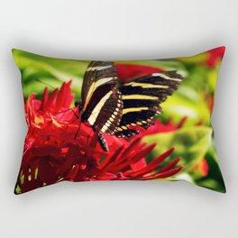 Zebra Longwing Butterfly Rectangular Pillow