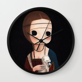 The Lady with Ermine Wall Clock