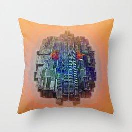 Buble Lab Robotics Space Throw Pillow