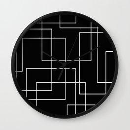Crossed Paths Wall Clock